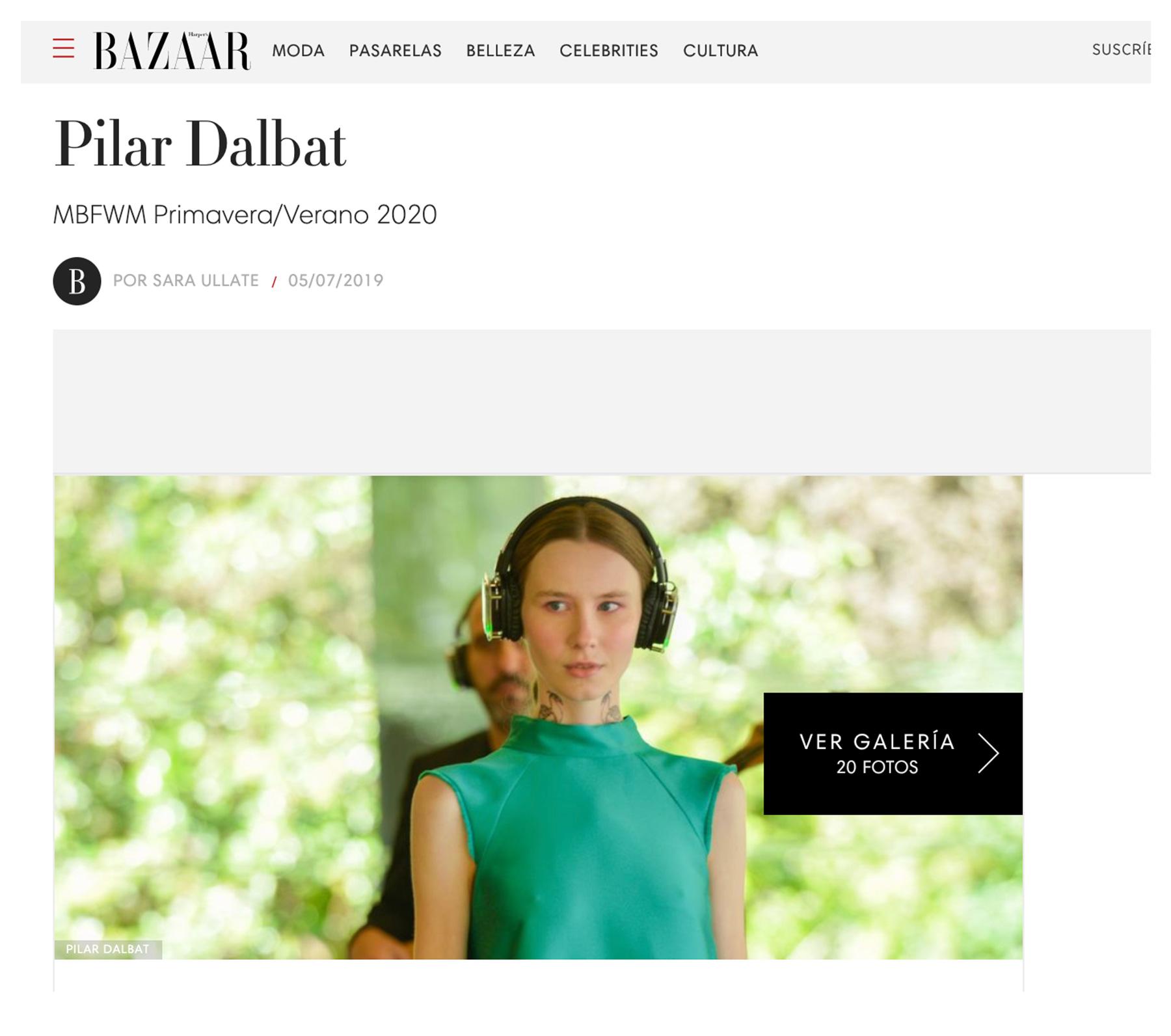 Pilar Dalbat - Harper's Bazaar