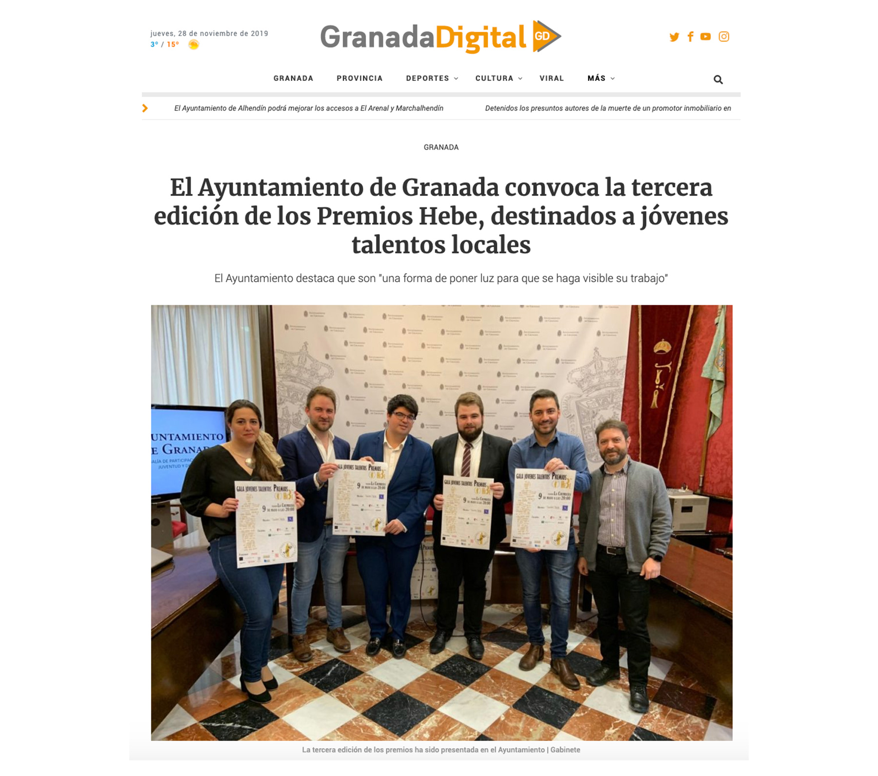 Premios Hebe - Granada Digital