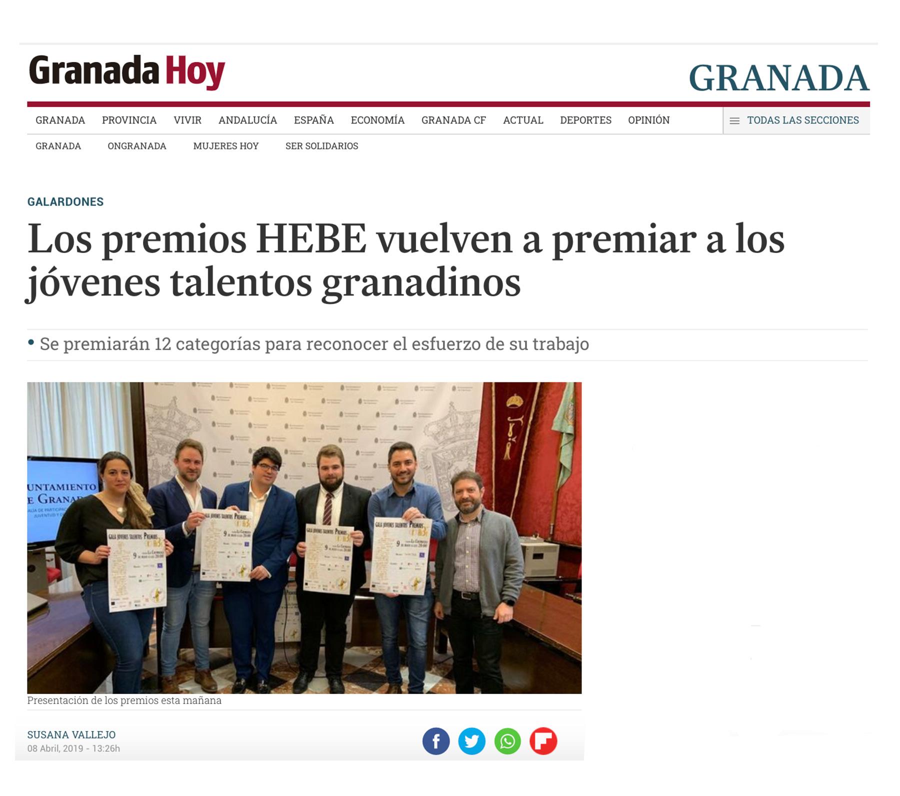 Premios Hebe - Granada Hoy
